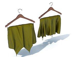 Hung Green Dress 3D