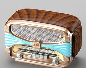 3D model Retro radio in art deco style