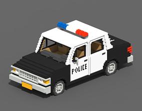 Voxel Police Car 3D model