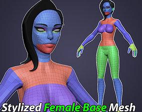 3D model VR / AR ready Stylized Male Basemesh - Low Res