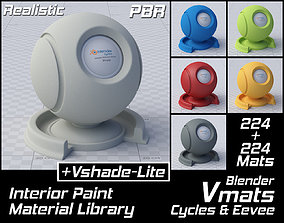 3D model VMATS Interior Paint Material Library for 2