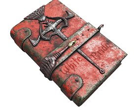 Vintage magic book 3D asset