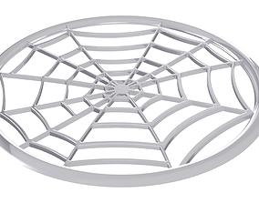 Drink coaster - Spider Web 3D print model