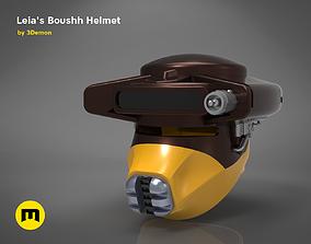3D printable model Princess Leia - Boushh Helmet