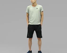 3D A Young Man Posing with Hands in Pockets II