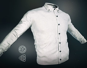 White Shirt 3D asset