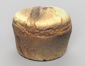 Bread 3D model low-poly PBR