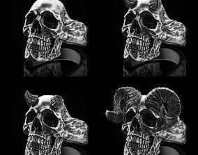 skull ring alien 3D model