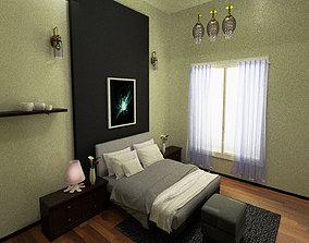 3D model PBR bed room