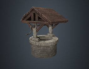3D asset Wishing Well - Stone Well - Well - Medieval 4