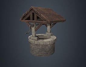 3D model Wishing Well - Stone Well - Well - Medieval 4