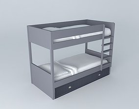 NEWPORT child bunk bed houses the world 3D model