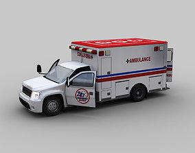 3D model Ambulance Van With Interior