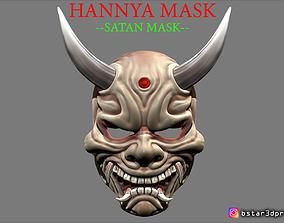 Hannya Mask -Satan Mask - Demon Mask for 3D print model