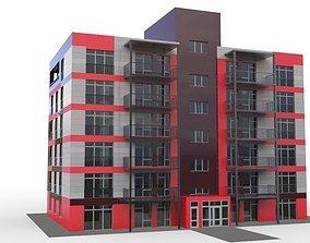3D model exterior Modern townhouse