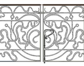 design 3D model Ornamental Gate