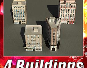 Building Collection 17-20 3D asset