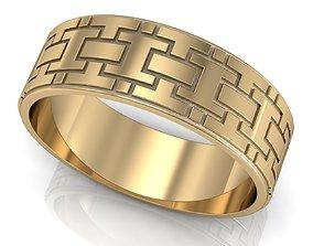 Engagement ring labyrinth 3D print model