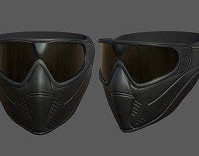 Helmet mask scifi military futuristic protection 3D asset