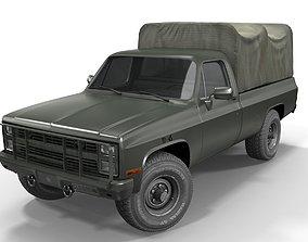 3D asset American military truck