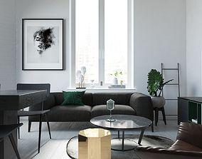 Living room table living 3D