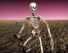 3D model animated Bloody Skeleton Monster