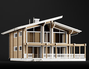 3D model Modern house 02