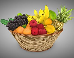 3D asset Fruits Basket