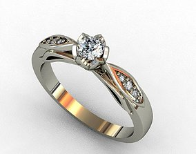 jewelry gold Diamond Ring 3D print model