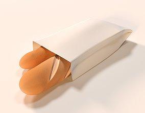 3D model Bread Baguette