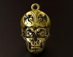 Skull Thai Tattoo Pendant 3D print model