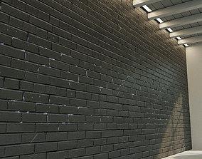 3D model Brick wall Old brick 61