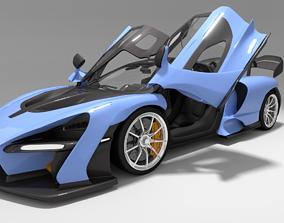 3D model animated Mclaren Senna