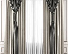 3D model low-poly Curtains