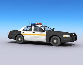 car Police Car 3D asset game-ready