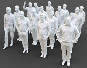 16 Stylized Human Statues Pack V3 3D model