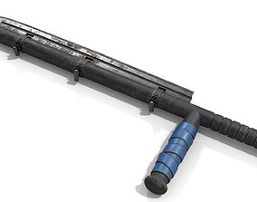 Police Baton with Blade 3D model
