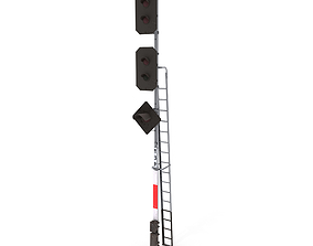 Train Traffic Light 18 3D model
