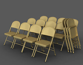 3D rigged Folding Chair