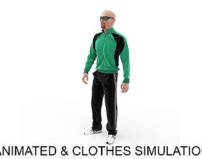 Sports man warm up 3D model