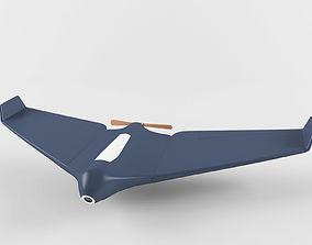 3D model Drone plane aerial