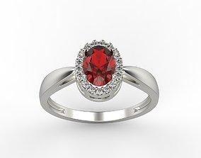 jewel Classic women ring with gems 3dm stl CAD