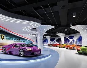 low-poly Model of automobile exhibition hall