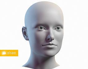 Female Head Olivia 3D model