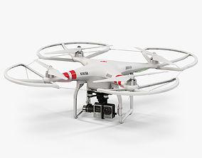 3D model DJI Phantom 2 Quadcopter with Prop Guard 2