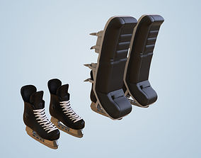 Hockey Ice Skate Goalie Shoes Collectible Figure 3D print