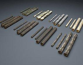 Timberwood Logs Mega Pack 3D asset