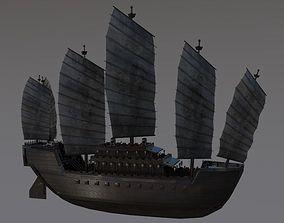 3D model Chinese ancient sailing ship Ancient China