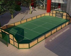 Urban stadium - Street soccer pitch 3D
