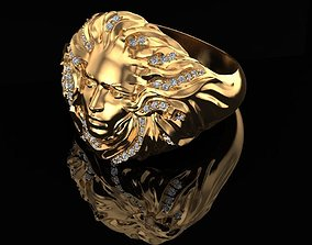Ring with diamonds sculpture 3D print model